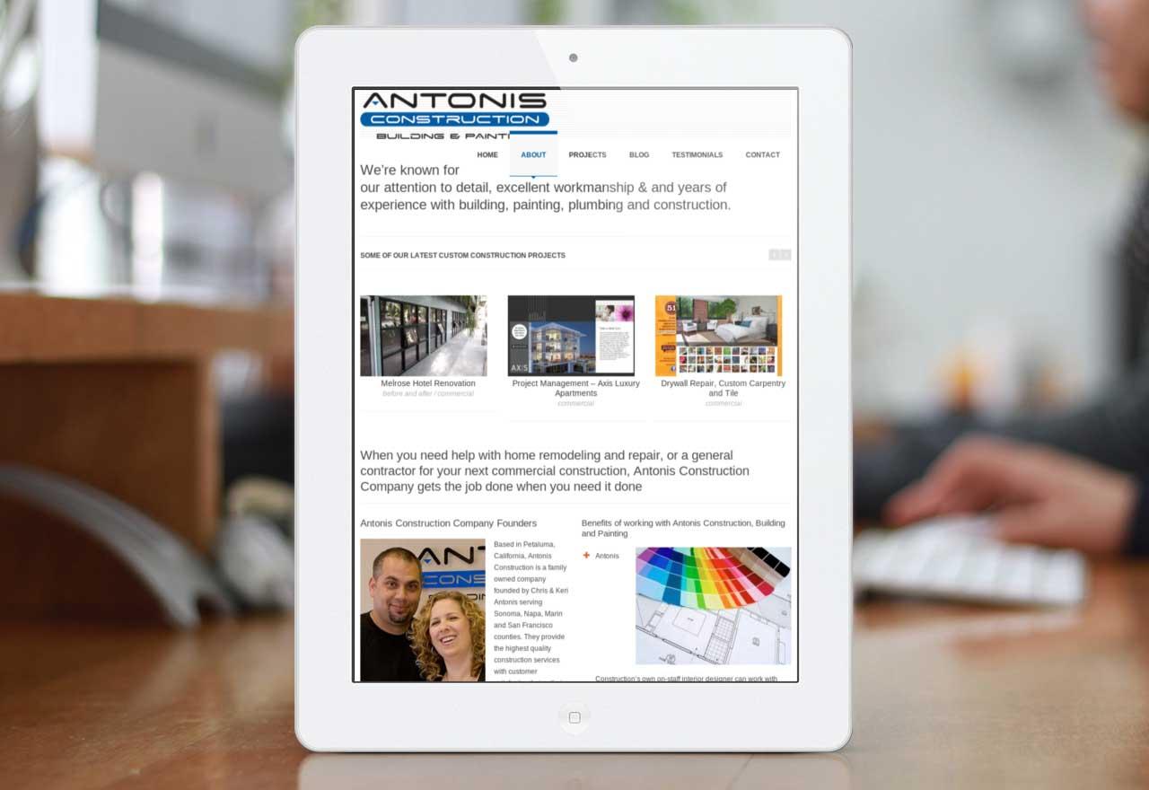 Antonis website on iPad