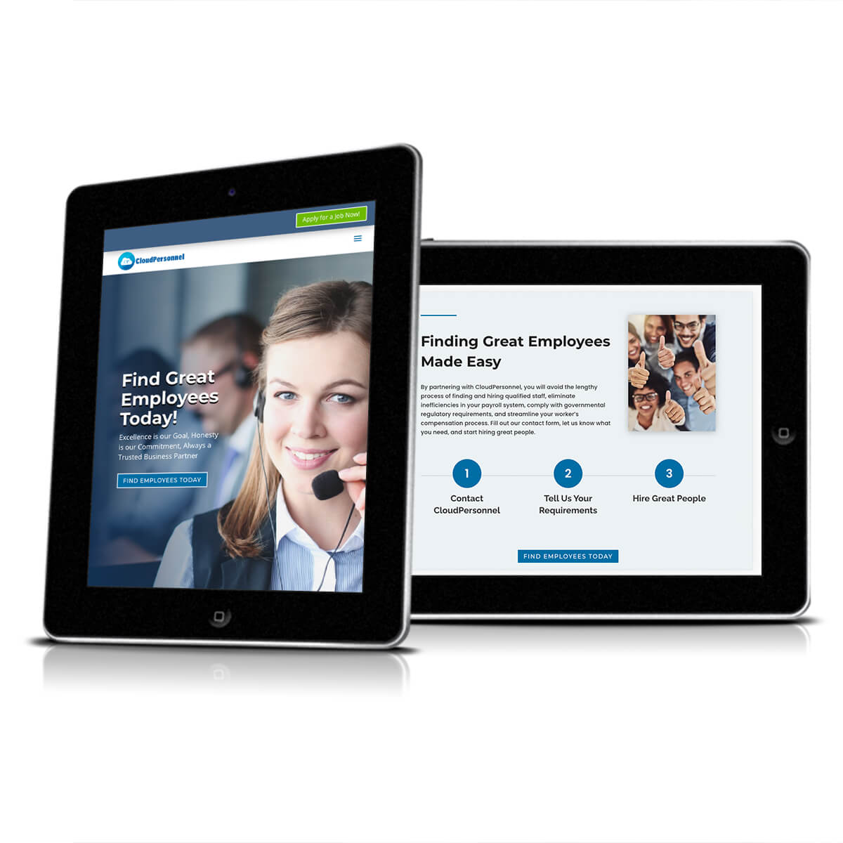 CloudPersonnel tablet mockup