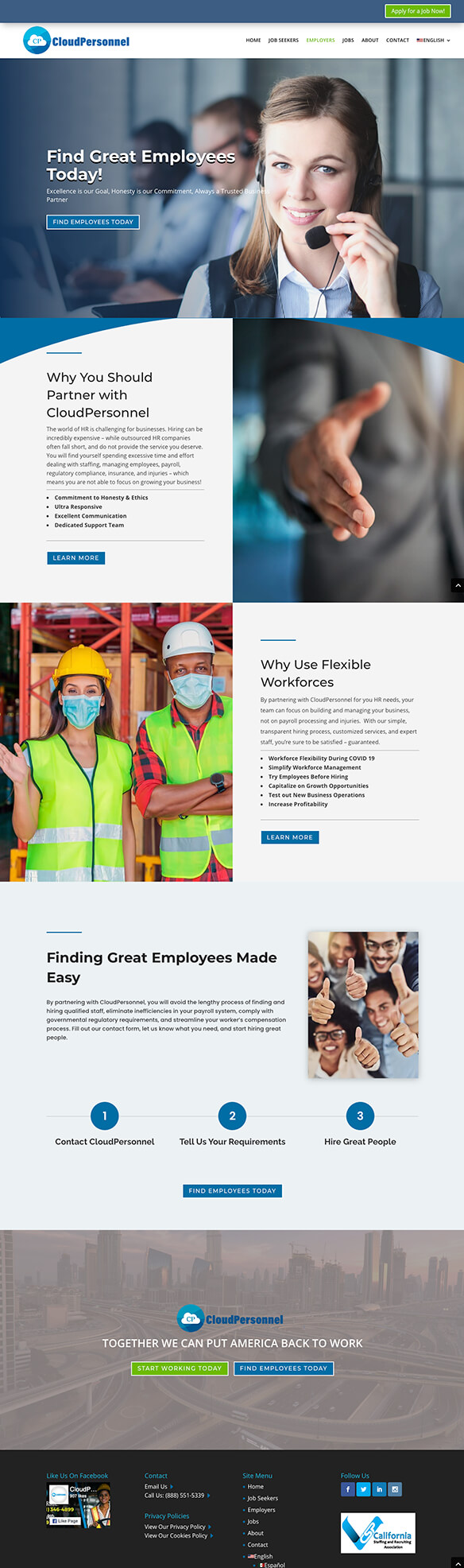 Employers demo page