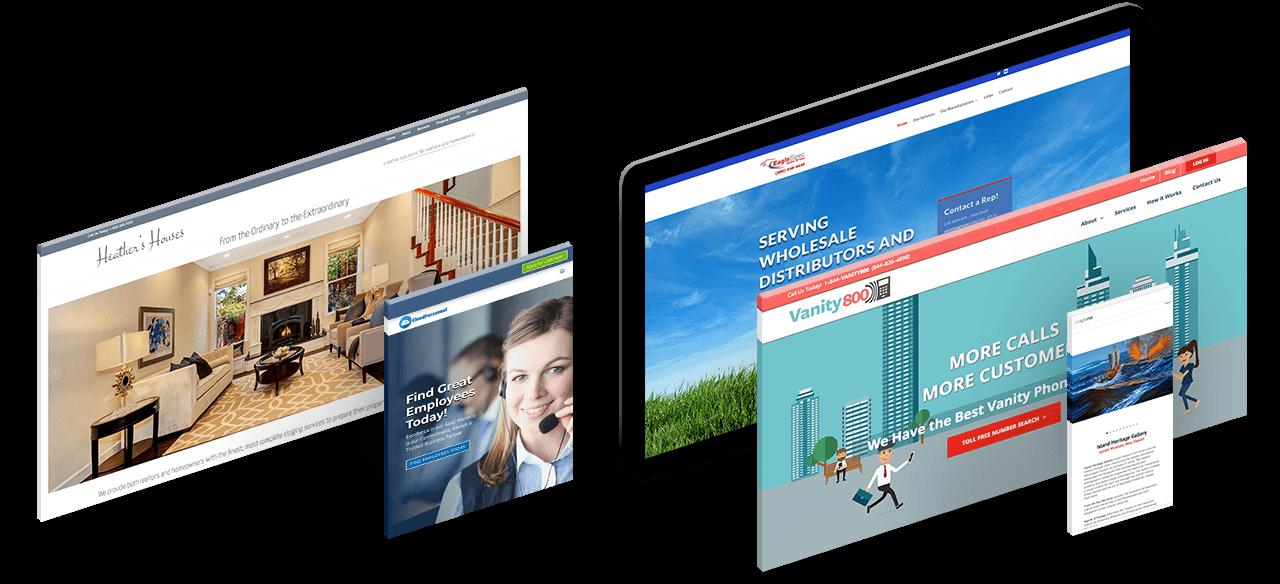 Responsive web design mockup